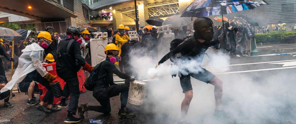 Tear gas, Molotov cocktails and gunfire